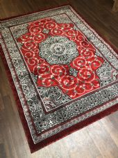 Modern Rug Approx 7x5 150x210cm Woven Design Sale Top Quality Red/Grey Stunning